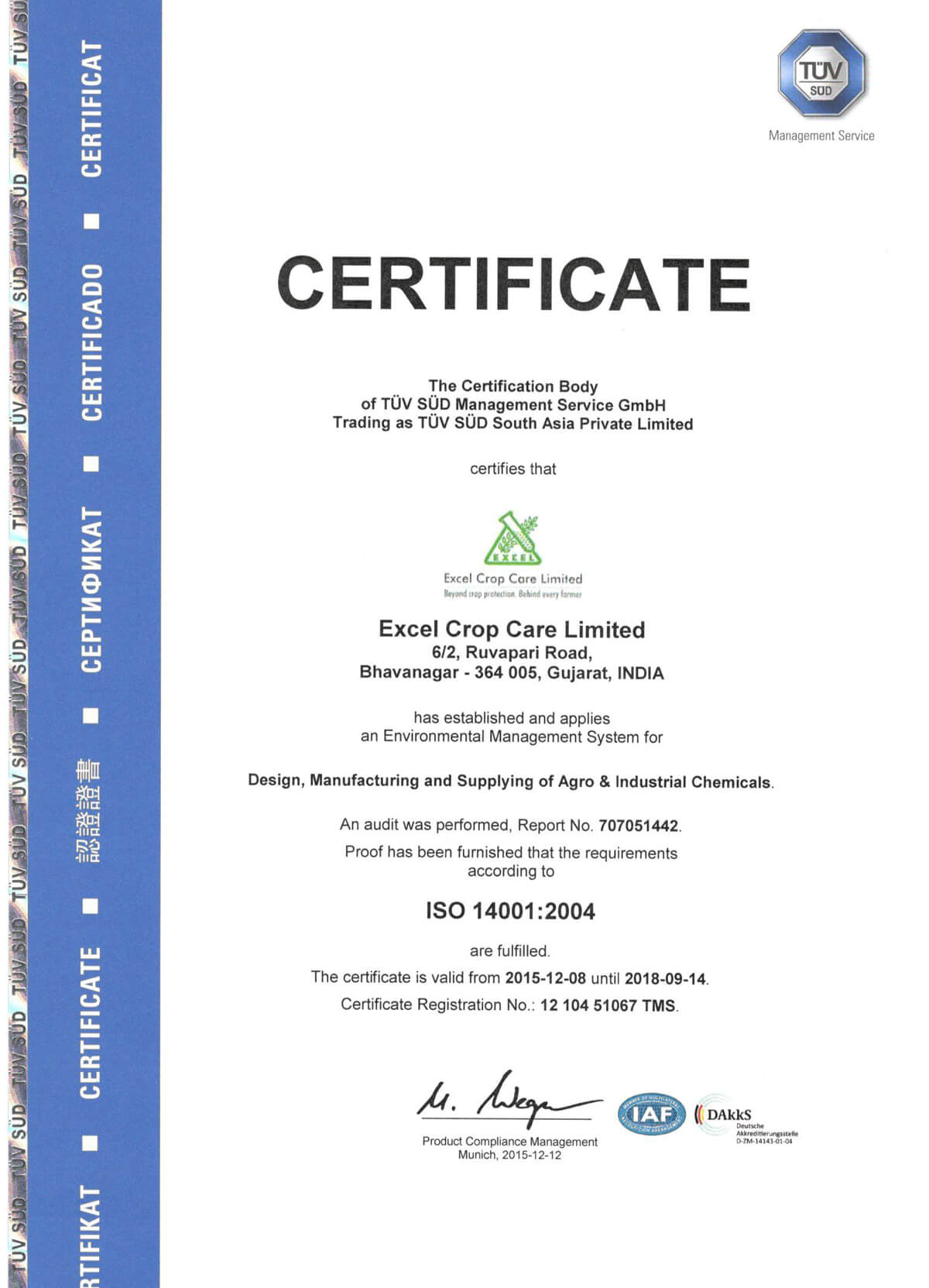 Excel Crop Care Limited - Beyond crop protection  Behind